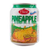 T'best Fruit Juice Drink with pulp_238ml _Pineapple