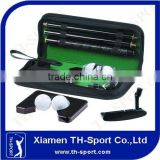 executive indoor wooden shaft office golf putter set