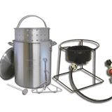 Portable outdoor propane turkey fryer