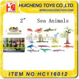 Bulk funny 16pcs non-taxic PVC plastic 2 inches plastic animal toys for sale