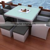rattan table and chair or wicker dining set