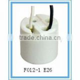 E26 ceramic screw shell lampholder with good quality