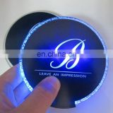 colorful flashing bar led bottle coaster with red light