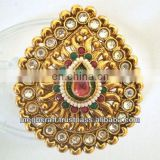 Indian wedding rings - kundan polki rings - antique finger rings - one gram gold rings - wholesale online rings