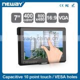 "7"" 450cd/m2 brightness DC 7-36V PORTABLE TFT LCD touch monitor with speaker built-in"