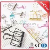 2016 Wholesale stationery clip customer logo metal paper clips