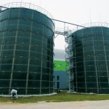 GFS glass fused to steel enamel coating tank Organic waste digester CSTR for biogas