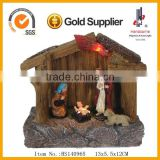 led new design resin christmas village houses ornaments