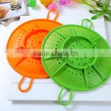 Kitchen tools silicone steaming rack steamer microwave oven drain rack