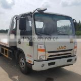 JZZ5080TQZ 4x2 RHD China supplier flatbed car tow towing truck for sale