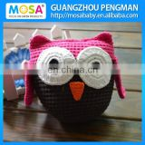 Girls Hot Pink Brown OWL Stuffed Dolls ,Baby Animal Stuffed Toy