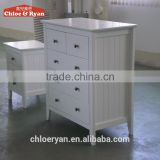 Modern White Cabinet Wooden Multi Drawer Chest