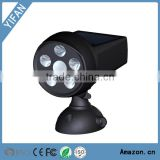 New Arrival Solar LED Bright Spotlight with Infrared Motion Sensor 250-Lumen Weatherproof