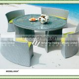 synthetic rattan outdoor furniture round table