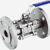 stainless steel CE certified 3-pc flanged ball valve DIN norm