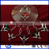 Set of 6 Longhorn Wine Glass Charms