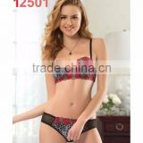 Sexy fancy bra panty set ladies sexy panty and bra sets Turkish manufacturer