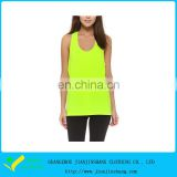 Fresh Yellow Loose Fitted Polyester Cool Max Tank Top Women Fitness