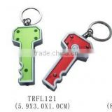 Wholesale key shape Led keychain