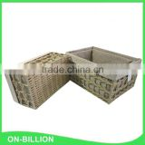 Decorative woven colorful paper string nest basket