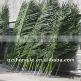 LXY081003 China supplier decorative plastic artificial palm tree leaves for sale