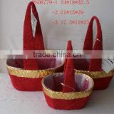 Christmas sisal basket