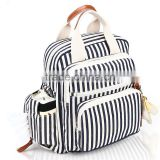 double shoulder customer print canvas back pack for women