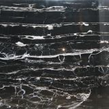 China Silver dragon marble black marble tile marble slab