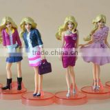 beautiful pvc action figure, plastic vinyl figure production, oem plastic vinyl figure