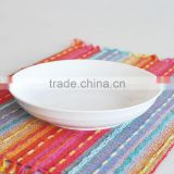 "8""round shape white procelain fruit plate"