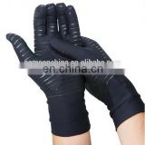 Black Full Finger Guaranteed Compression Gloves Infused With Copper