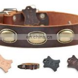 Diamond Stone leather dog collar and leashes