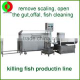 Automatic fish killing machine or fish production line (to scale, open the stomach, offal, fish cleaning)