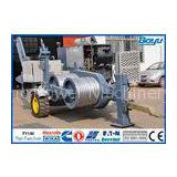 120kN 12T Power Line Stringing Equipment Hydraulic Puller German Rexroth Pump Motor / Reducer