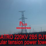 MEGATRO 220KV 2B5 DJ1 single circuit angle and tension transmission tower