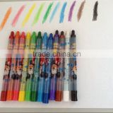 12color twisted crayon in PVC bag for children painting