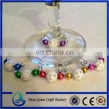 Christmas Wine Glass Charms set of 6
