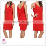 Fashion party red knee length women sexy short wedding dress