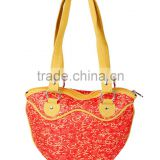 New Popular Women Hand Bags Jacquard Scroll Pattern Branded Handbag Exported
