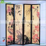 Chinest style design handmade weaving paper folding screen room divider canvas folding screen GVSD032