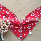 cheap wholesale chinese red cotton baby/adults/pet bibs custom for present