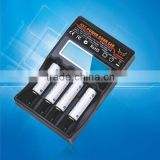 New arrival 1.2v nimh nicd battery charger 18650 3.7v universal smart battery charger with lcd