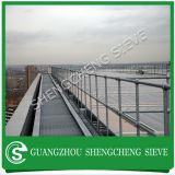 Waterwork galvanized handrail stanchion construction Australia
