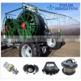 2016 new style yulin four wheel lateral move irrigation equipment system with water hose