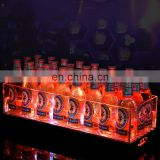 Bar counter top square beer ice bucket LED lighting up plastic ice bucket