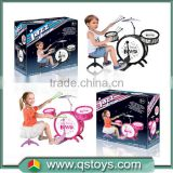 Promotional Musical Instrument Toy Jazz Drum Kids toy drum set QS150806070
