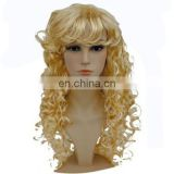 MPW-0496 halloween carnival party sexy lady long curly blond wig