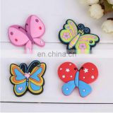 custom butterfly shaped soft pvc fridge magnets