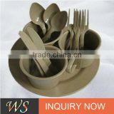 Eco-friendly Rice Husk Biodegradable Tableware Set