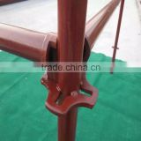 Galvanized and Painted Steel Scaffolding, Steel Four Way Ring System Scaffolding for construction